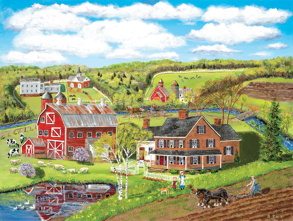 Spring Plowing Countryside Jigsaw Puzzle