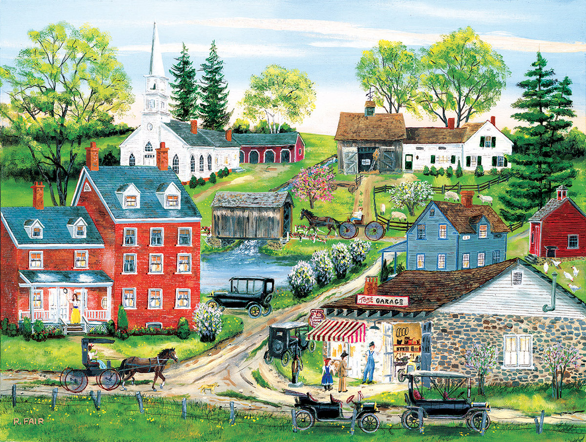 Tom's Garage Countryside Jigsaw Puzzle