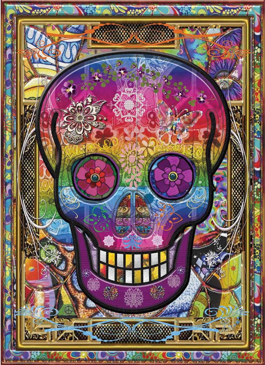 Rainbow Skull Contemporary & Modern Art Jigsaw Puzzle