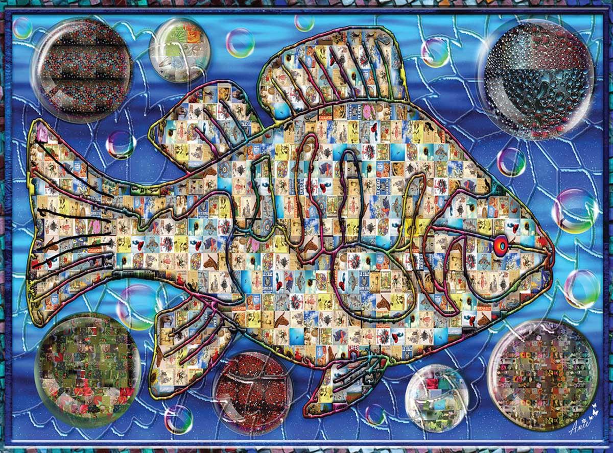 Mosaic Fish 2 Under The Sea Jigsaw Puzzle