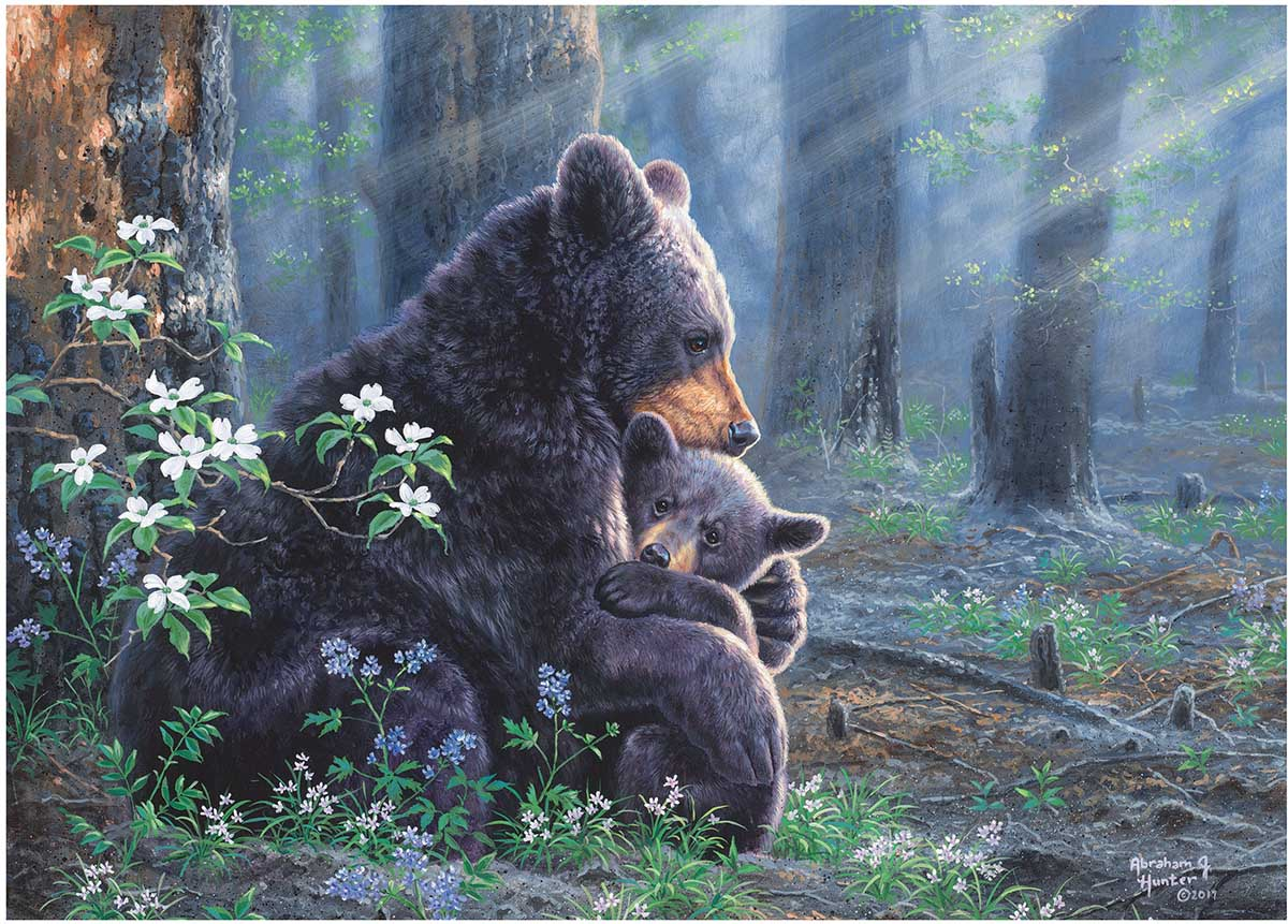 Bear Scene - Scratch and Dent Forest Jigsaw Puzzle