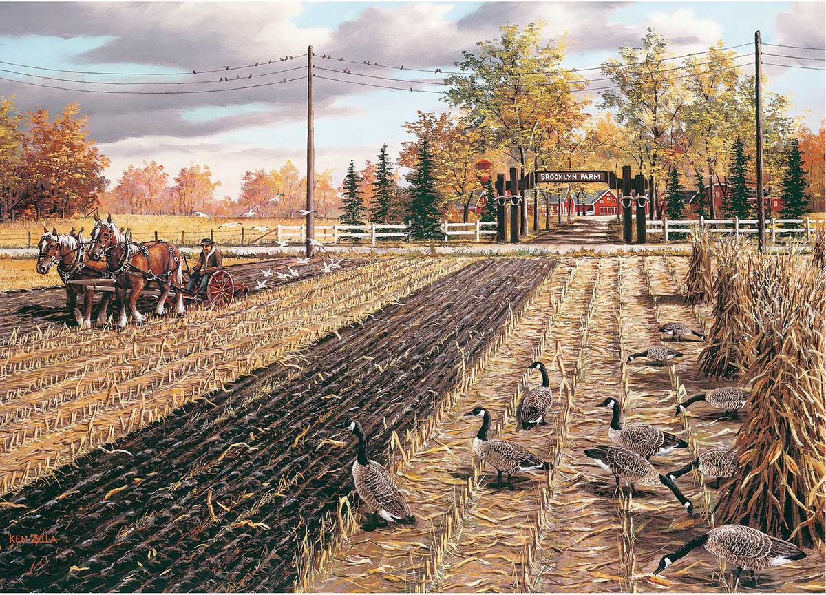 Fall Plowing Farm Jigsaw Puzzle
