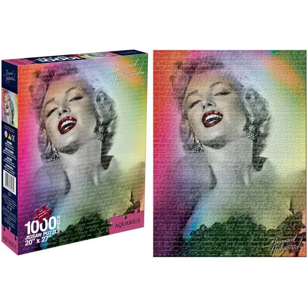 Marilyn Monroe - Color Movies / Books / TV Jigsaw Puzzle