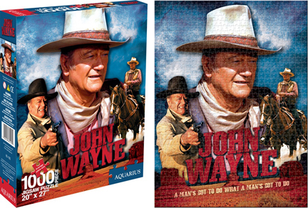 John Wayne - Movie Famous People Jigsaw Puzzle