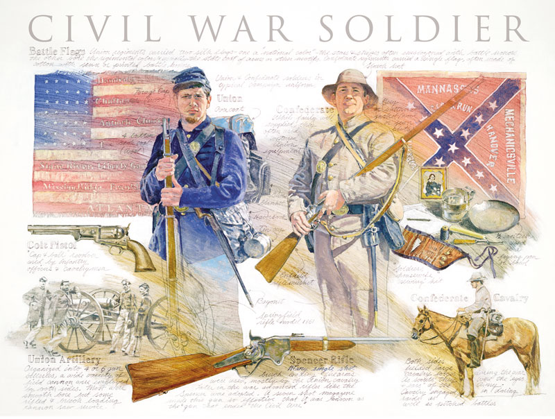 Civil War Soldier History Jigsaw Puzzle