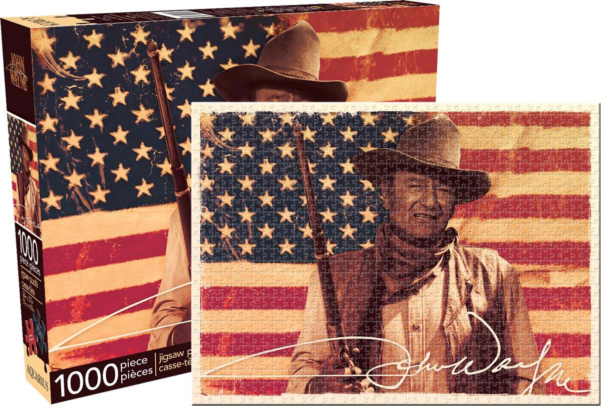 John Wayne - Flag Famous People Jigsaw Puzzle