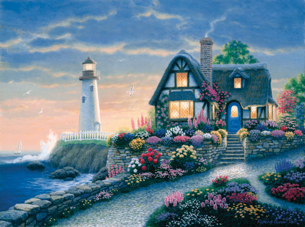 Lighthouse Overlook Lighthouses Jigsaw Puzzle
