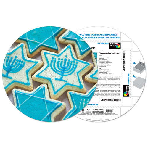 Chanukah Cookies Sweets Shaped Puzzle