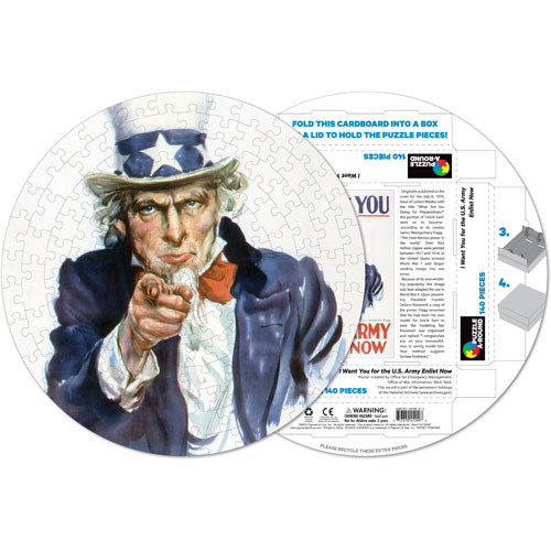 Uncle Sam History Shaped Puzzle