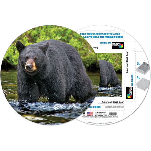 American Black Bear Wildlife Shaped Puzzle