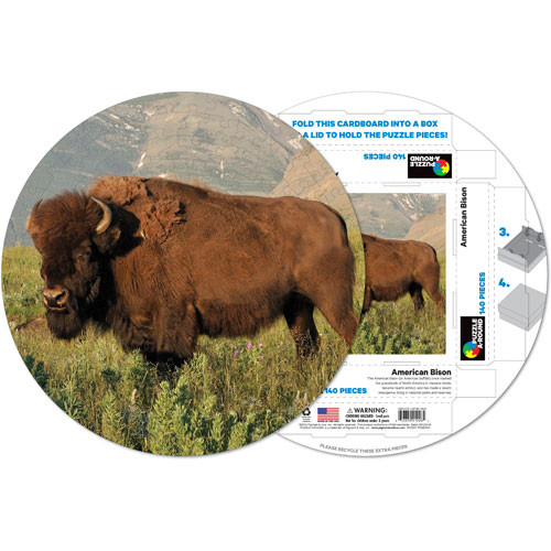American Bison Animals Shaped Puzzle