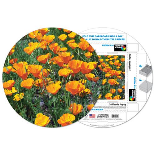 California poppy shaped puzzle puzzlewarehouse california poppy flowers shaped puzzle mightylinksfo