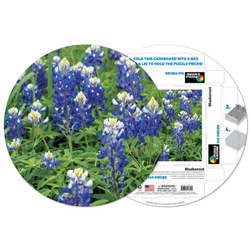Blubonnet Flowers Shaped Puzzle