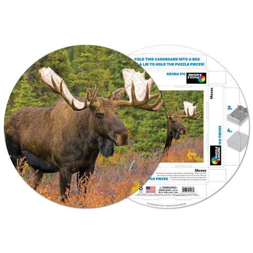 Moose Animals Shaped Puzzle