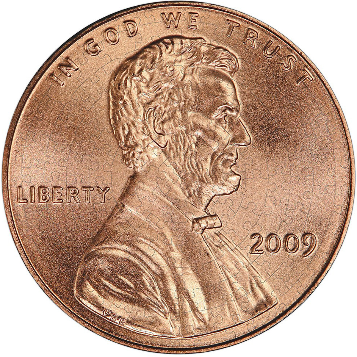 Lincoln Penny Puzzle A-Round People Jigsaw Puzzle