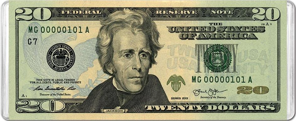 $20 Banknote MiniPix® Puzzle United States Jigsaw Puzzle