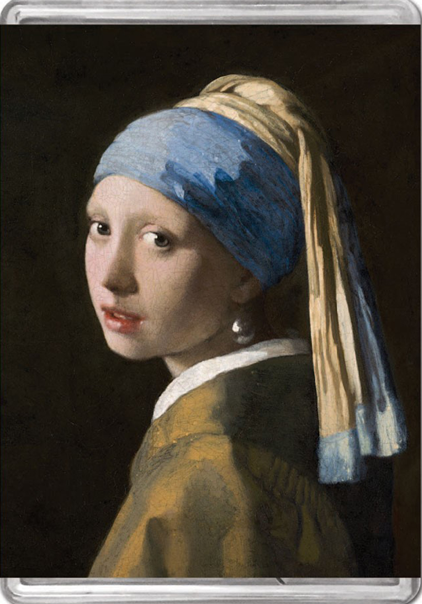 Girl With A Pearl Earring MiniPix® Puzzle Fine Art Jigsaw Puzzle