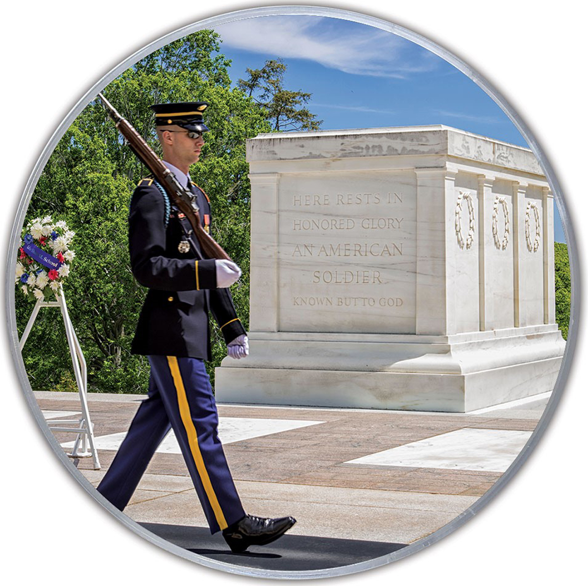 Tomb Of The Unknowns MiniPix® Puzzle Landmarks / Monuments Jigsaw Puzzle