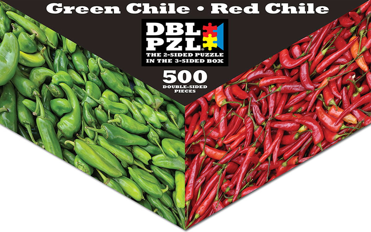 Green/Red Chiles DBL PZL® Puzzle Food and Drink Jigsaw Puzzle