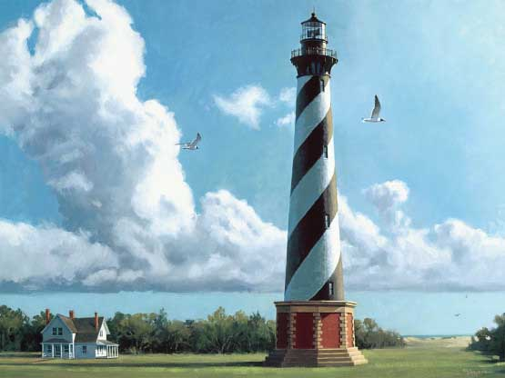 New Morning Cape Hatteras Lighthouse Lighthouses Jigsaw Puzzle