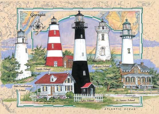 Georgia Lighthouse Lighthouses Jigsaw Puzzle