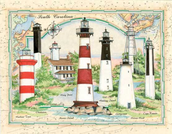South Carolina Lighthouse Lighthouses Jigsaw Puzzle