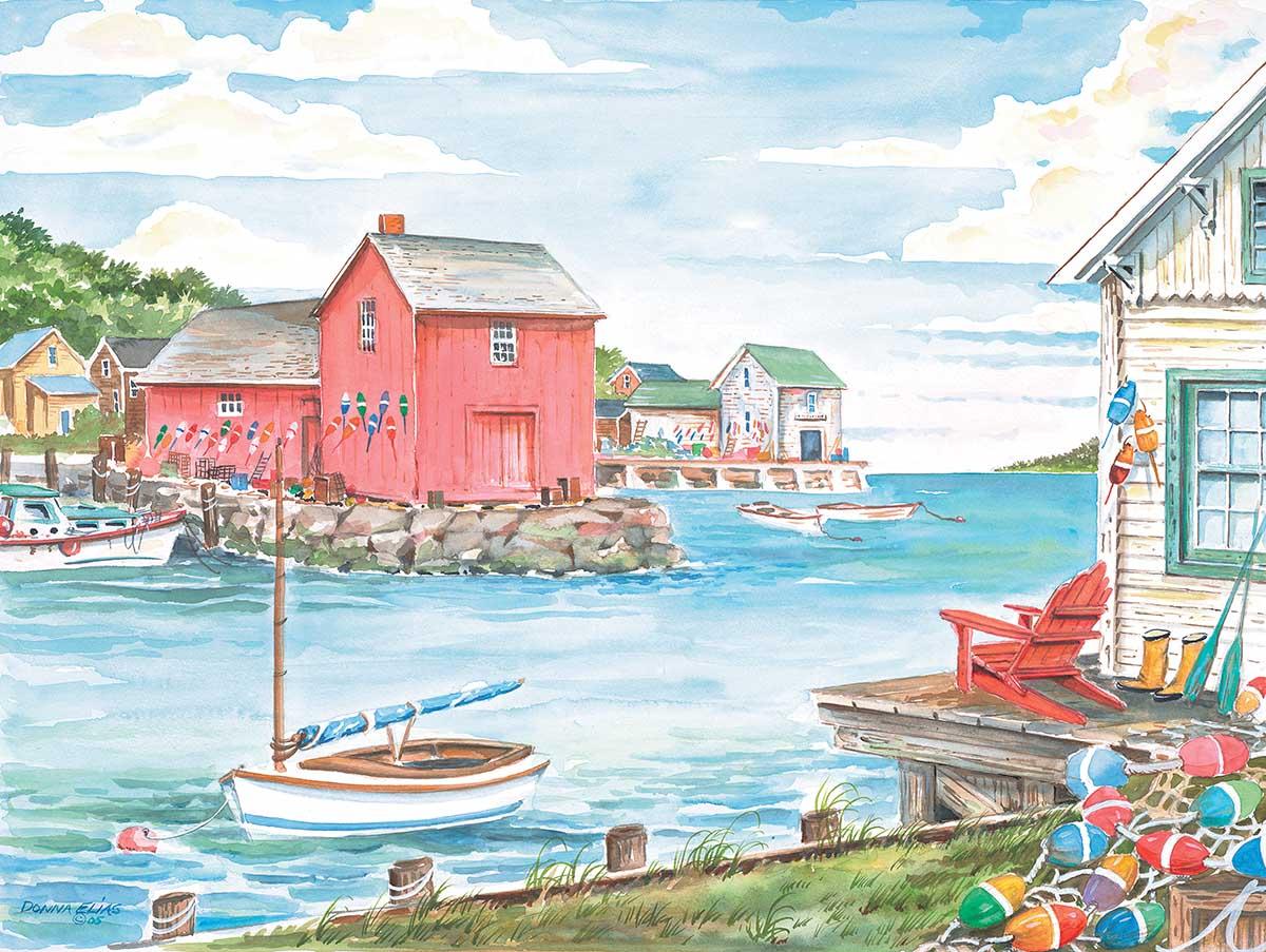 Harborside Beach Jigsaw Puzzle