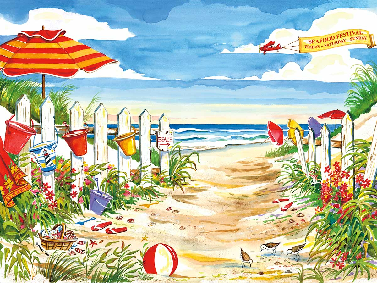 Beach Time Beach Jigsaw Puzzle