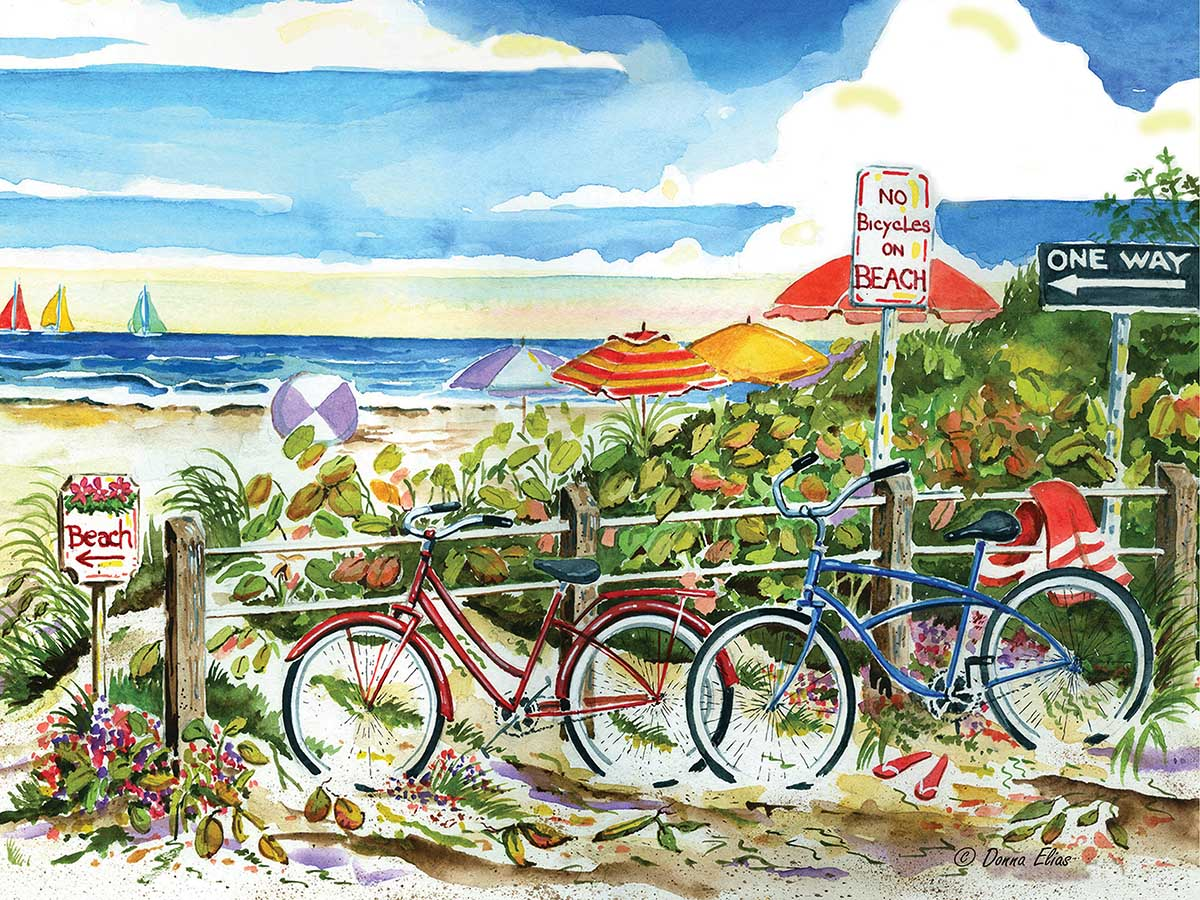 No Bicycles on the Beach Beach Jigsaw Puzzle
