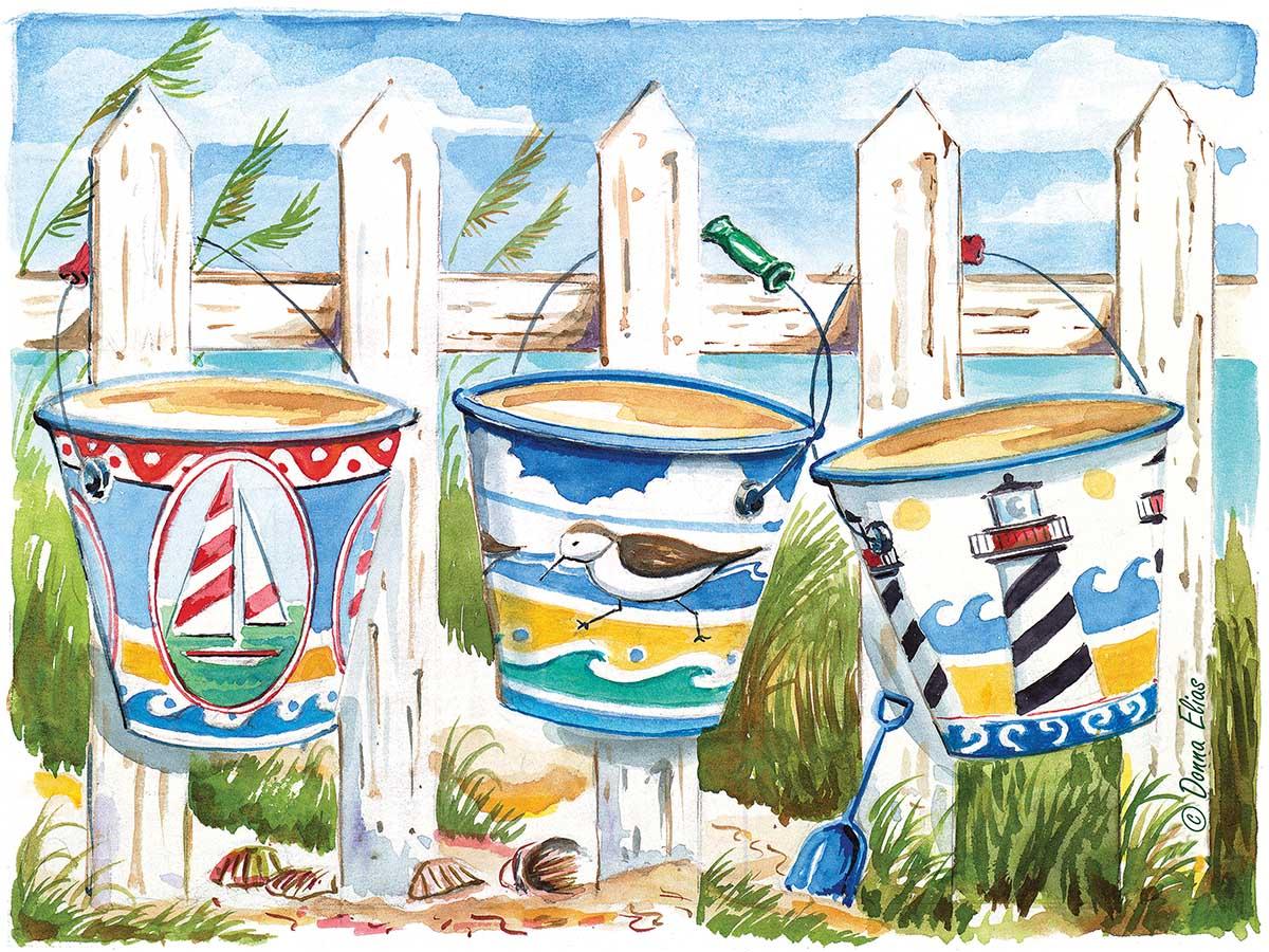 Bucket Brigade Beach Jigsaw Puzzle