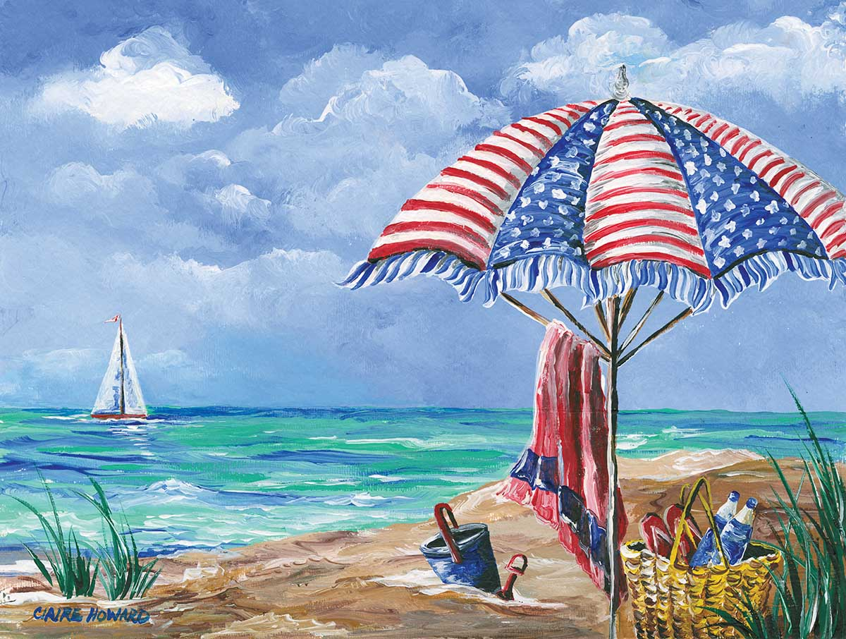 Coastal Pride Beach Jigsaw Puzzle