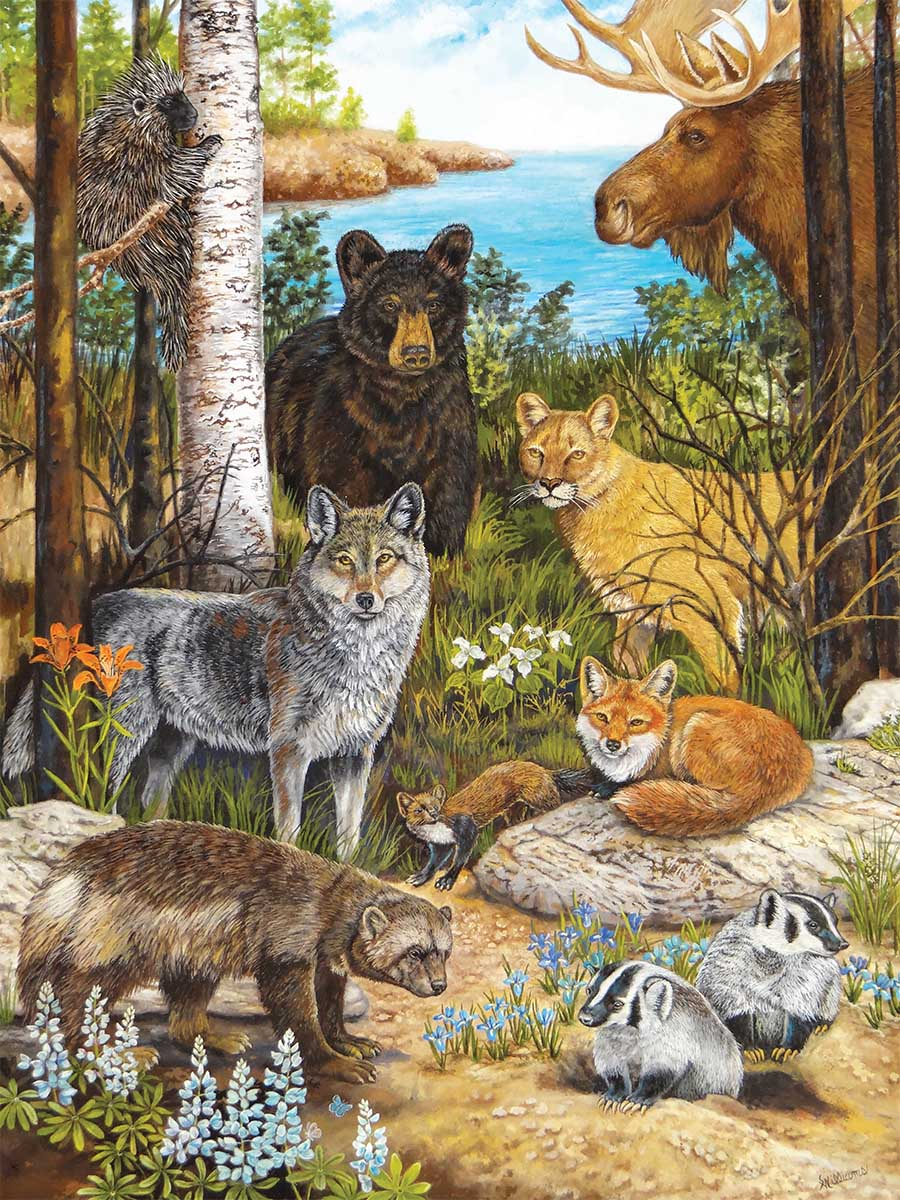 Forest Friends of The Great Lakes Animals Jigsaw Puzzle