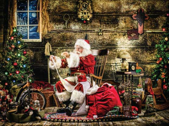 Checking it Twice Santa Jigsaw Puzzle