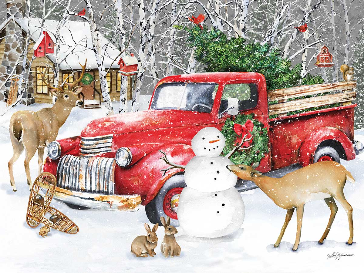 A Country Christmas Countryside Jigsaw Puzzle