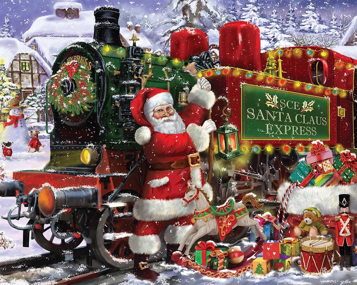 Santa Claus Express Winter Jigsaw Puzzle