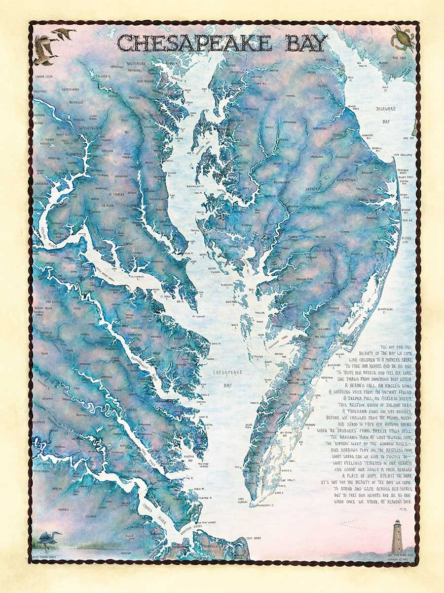 Chesapeake Bay Waterways Maps / Geography Jigsaw Puzzle