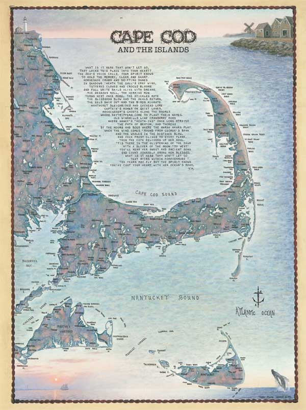 Cape Cod and the Island Waterways Maps / Geography Jigsaw Puzzle
