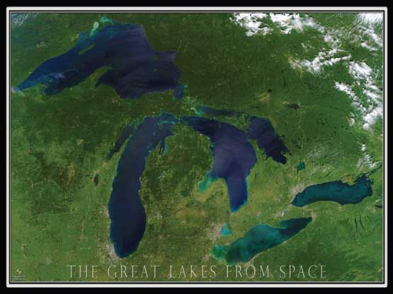 Great Lakes from Space Maps / Geography Jigsaw Puzzle