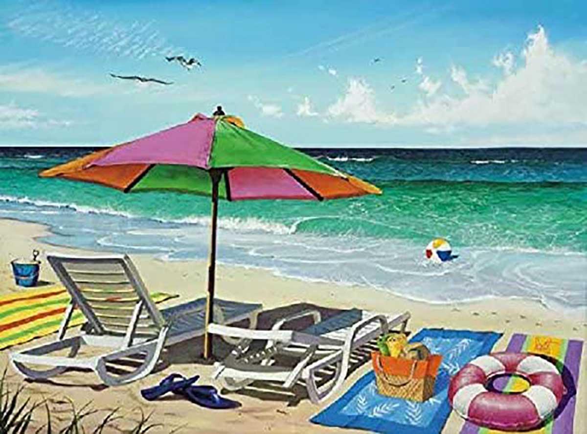 Coasting Through Beach Jigsaw Puzzle