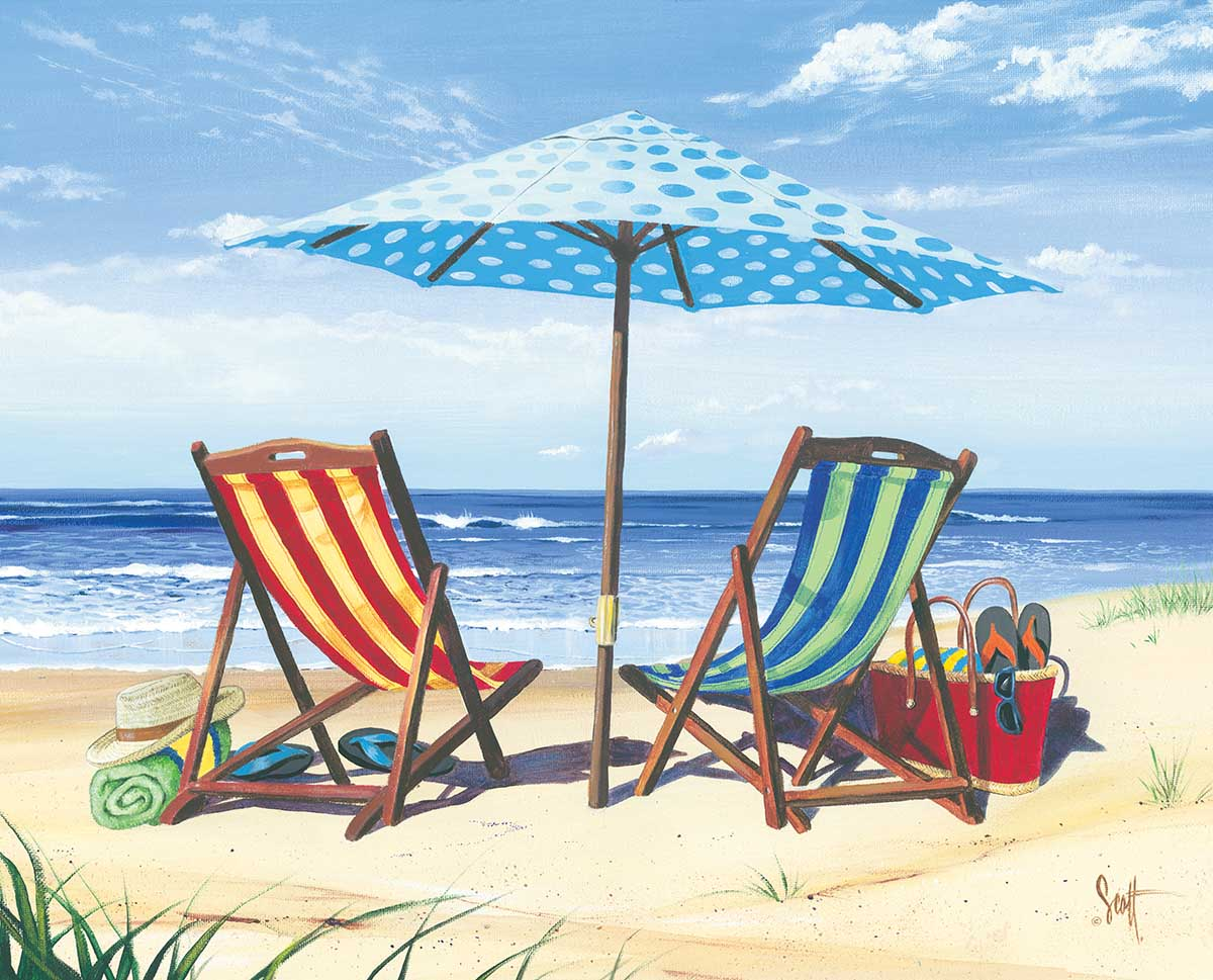 Made in the Shade Beach Jigsaw Puzzle