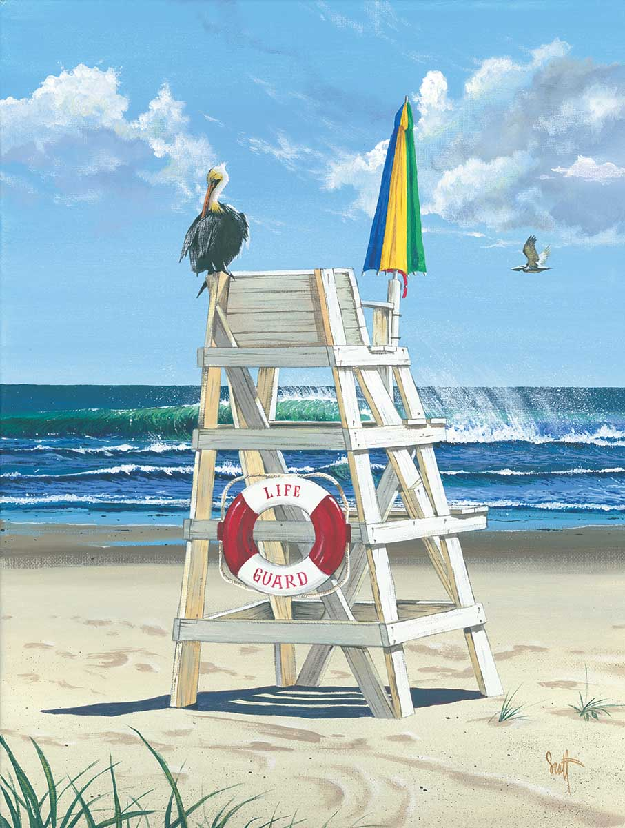 Pelican's Perch Beach Jigsaw Puzzle