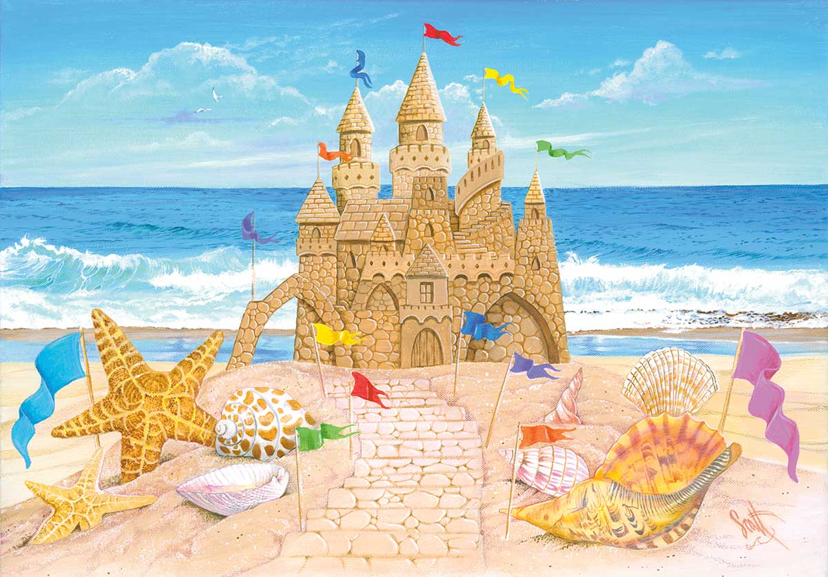 Seaside Palace Beach Jigsaw Puzzle
