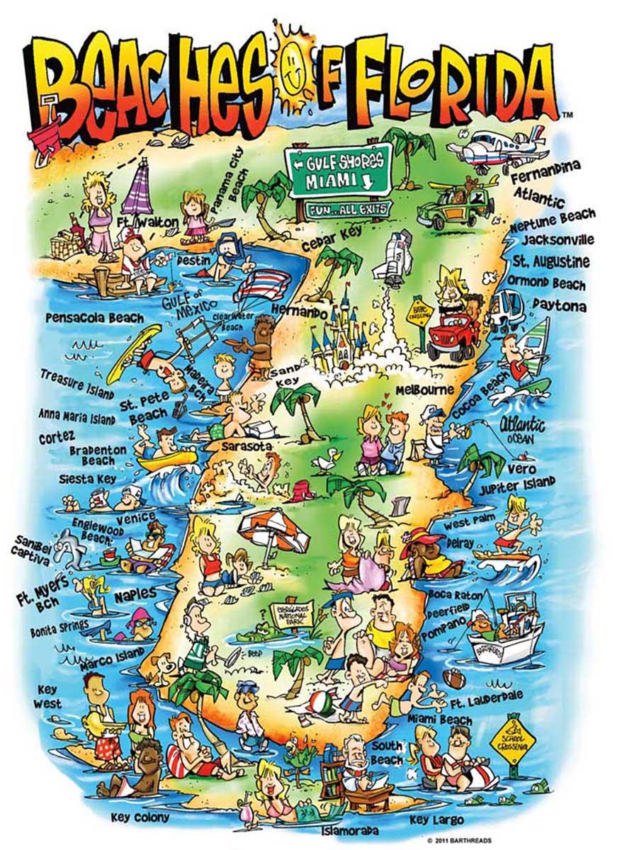 Beaches of Florida Beach Jigsaw Puzzle