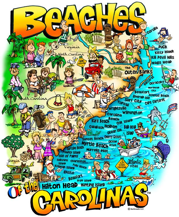 Beaches of the Carolinas Beach Jigsaw Puzzle