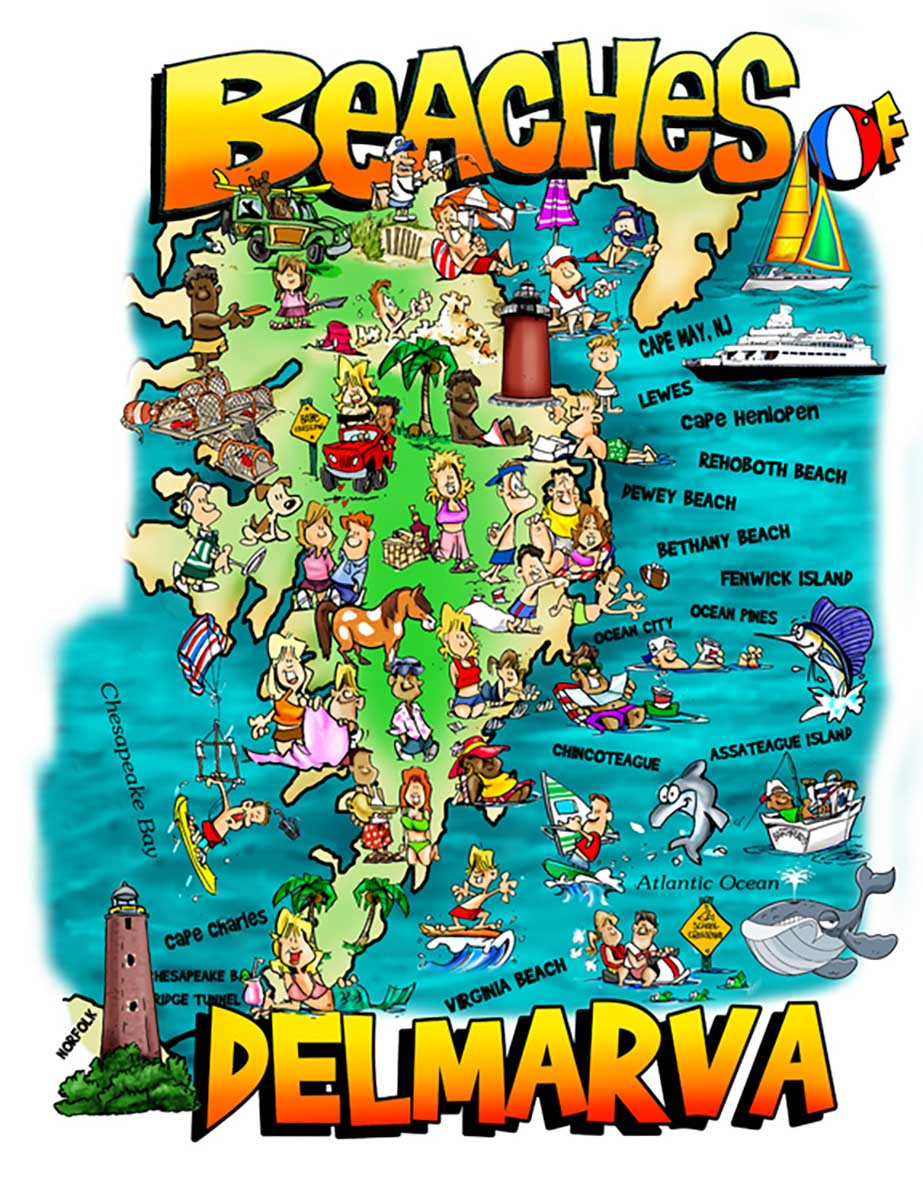 Beaches of Delmarva Beach Jigsaw Puzzle