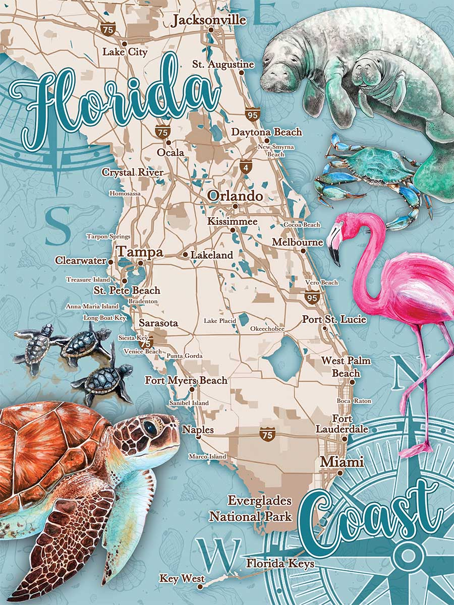 Florida Coast Animals Jigsaw Puzzle