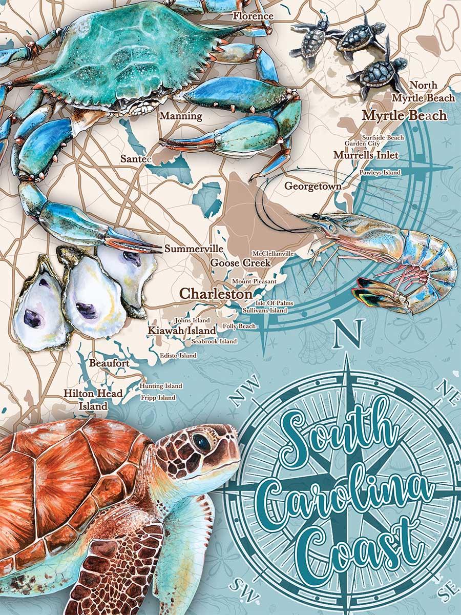 South Carolina Coast Animals Jigsaw Puzzle