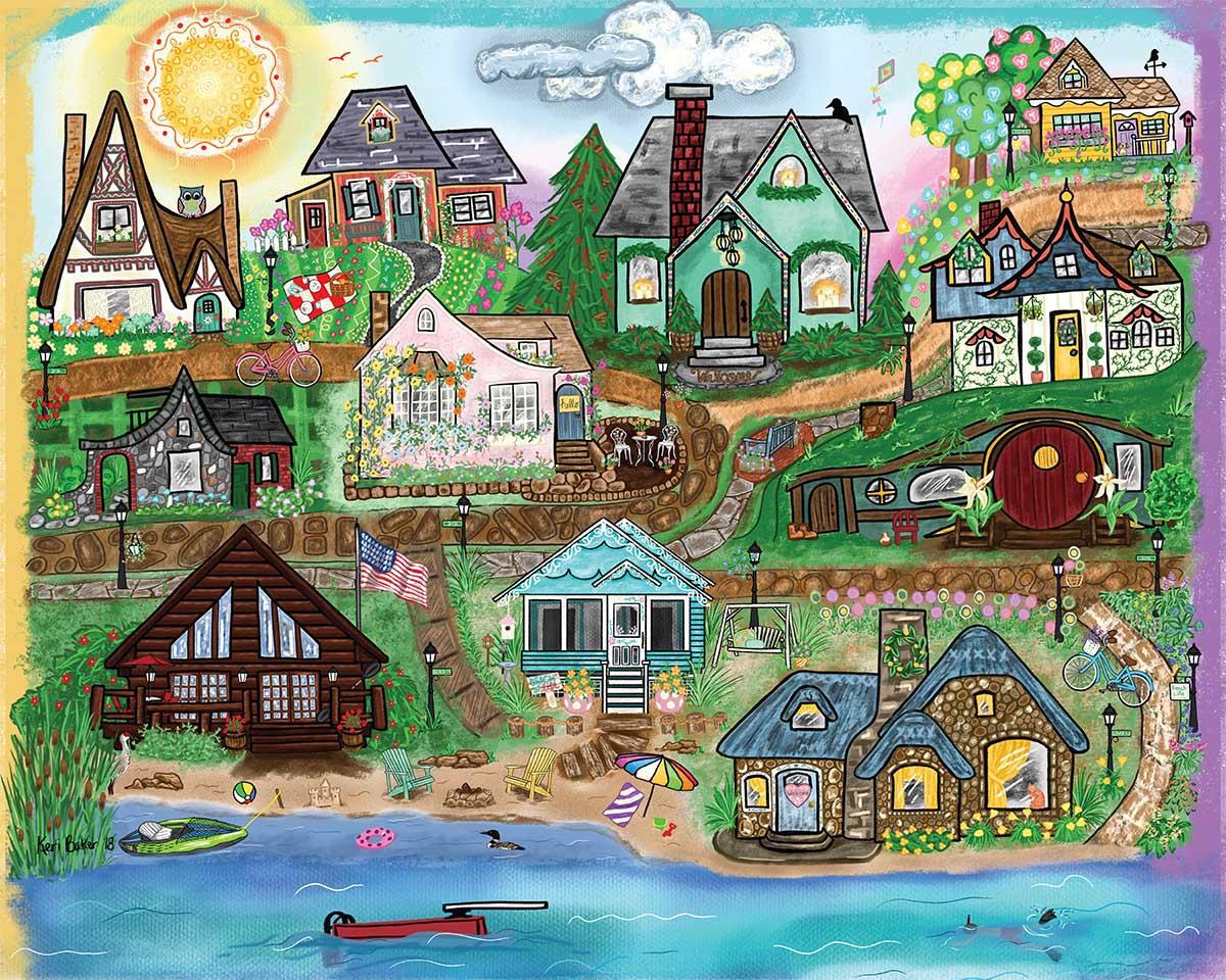 Beach Life Seascape / Coastal Living Jigsaw Puzzle
