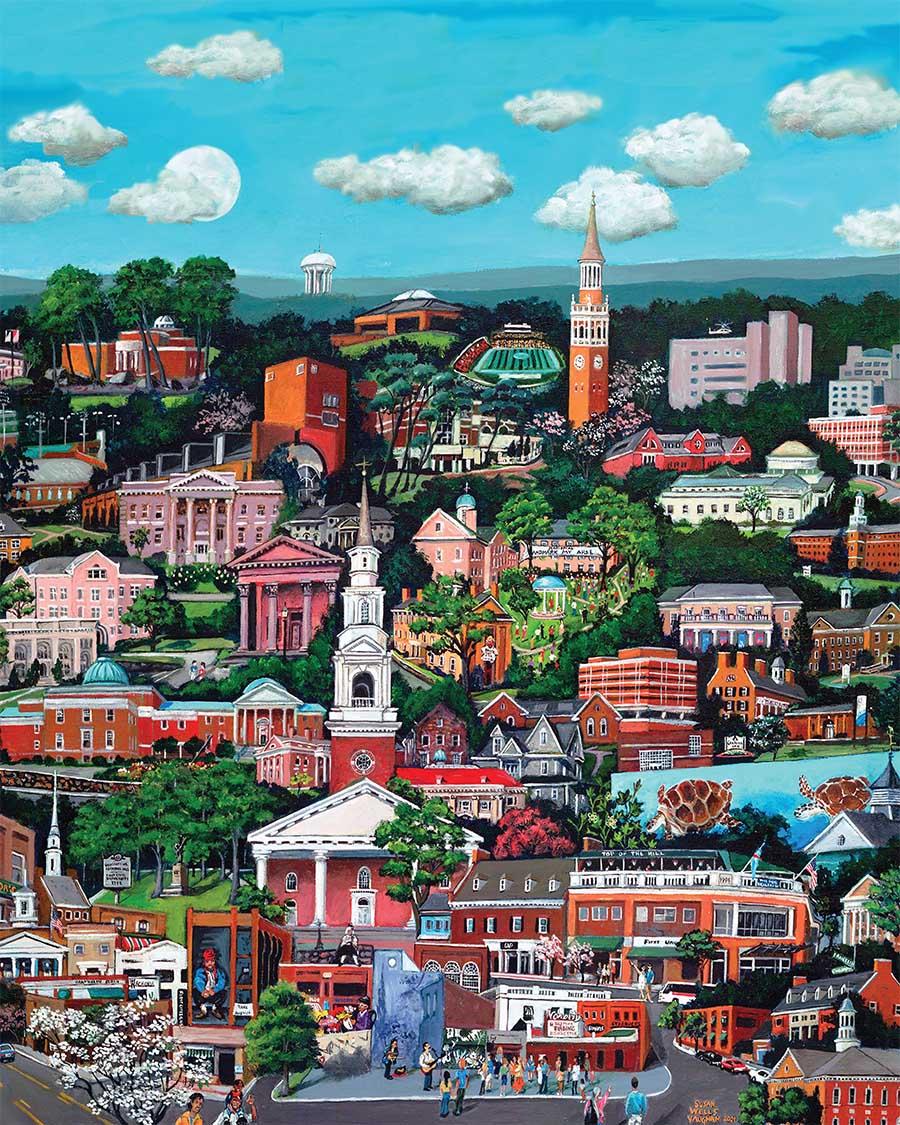 Chapel Hill Skyline / Cityscape Jigsaw Puzzle