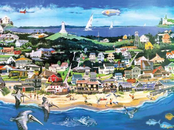 Kill Devil Hills Seascape / Coastal Living Jigsaw Puzzle